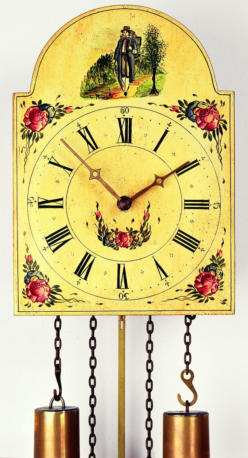 "8 Tage Schilderuhr ""Uhrenträger"" -handbemalt-"
