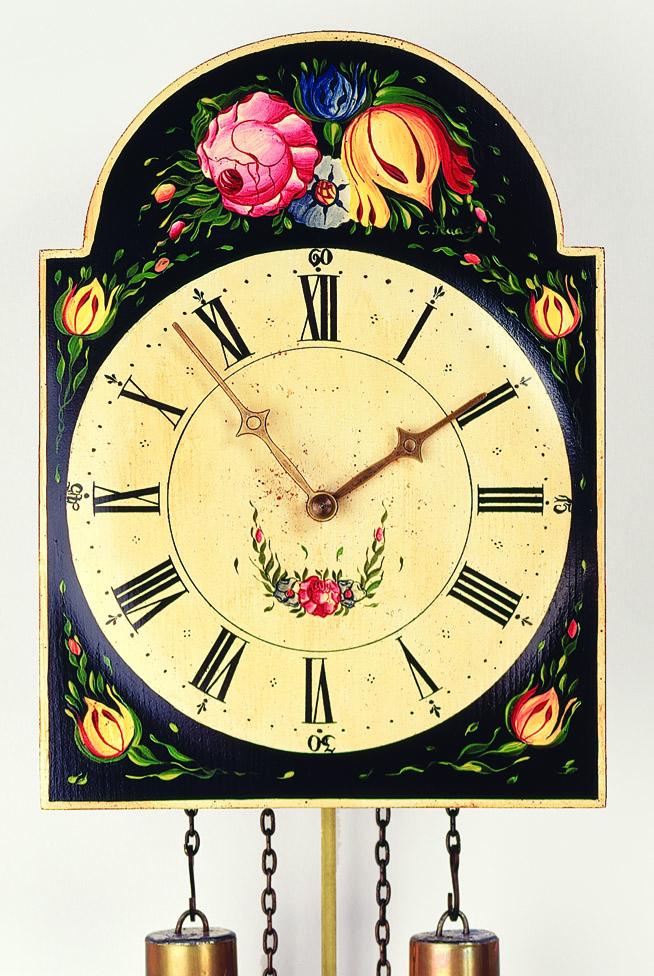 """8 Tage Schilderuhr """"Blumenmotiv"""" -handbemalt-"""